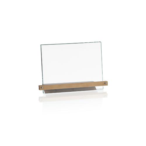 20250GA Targa in vetro con base